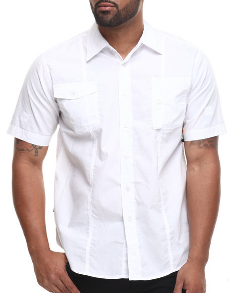 Enyce - Men White Ranger S/S Button-Down - $22.99