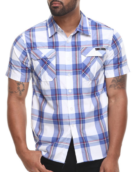 Enyce Blue Prospect Street Fit S/S Button-Down