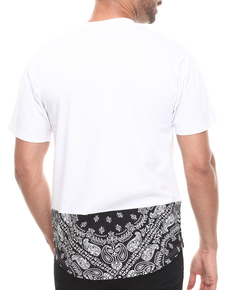 Crooks & Castles - Men White Bandit Pannelled T-Shirt