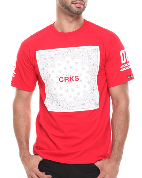 Crooks & Castles - Men Red Bandit Block T-Shirt - $21.99