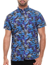 Crooks & Castles - Cerulean Camo S/S Button-Down