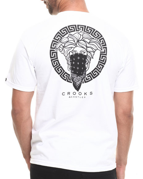 Crooks & Castles White Greco Bandit T-Shirt