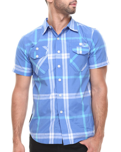 Enyce Blue Brock S/S Button-Down