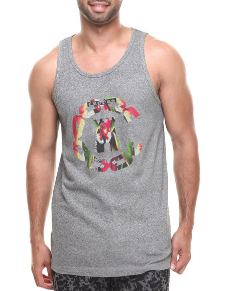 Crooks & Castles - Men Grey Apparition Tank Top