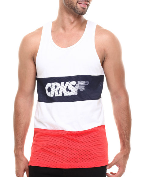 Crooks & Castles - Men White Gradient Pistol Tank Top - $39.99