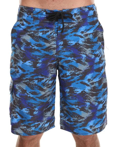 Crooks & Castles Blue,Camo Cerulean Camo Boardshort
