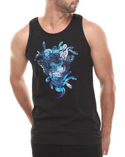 Men - Cerulean Camo Medusa Tank Top