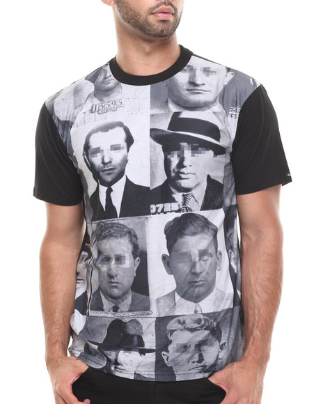 Crooks & Castles - Men Black Familia Mafioso T-Shirt