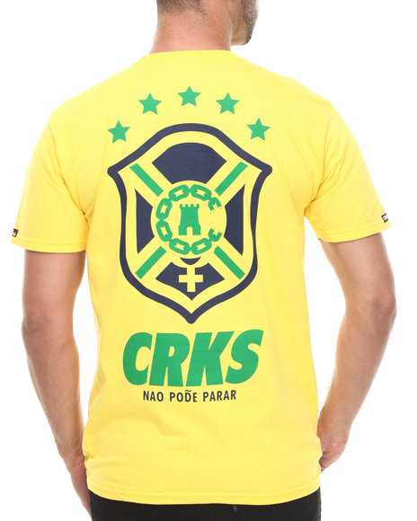 Crooks & Castles Yellow T-Shirts