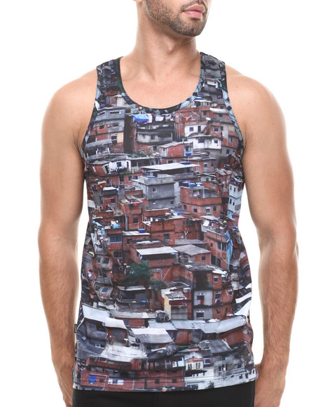 Crooks & Castles - Men Multi Favelas Tank Top - $20.99