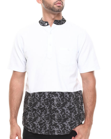 Crooks & Castles - Men White Digi Camo Polo