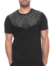Akademiks - Zagato 61 quilted Faux leather studed Premium tee
