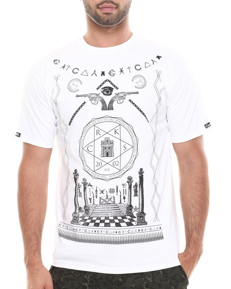 Crooks & Castles - Men White Coveted Society T-Shirt - $16.99