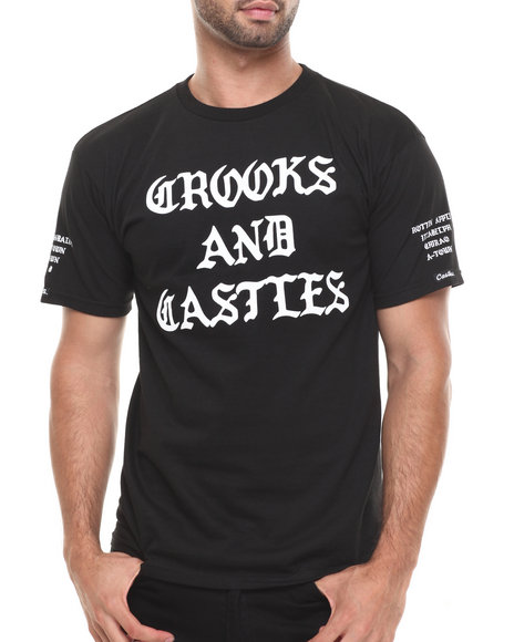 Crooks & Castles Black Slum T-Shirt