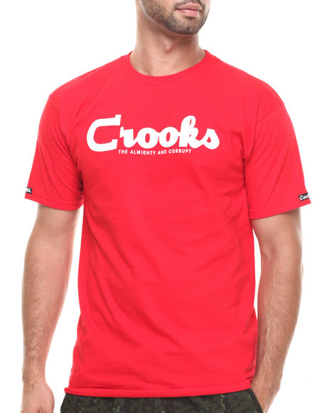 Crooks & Castles - Men Red The Almight & Corrupt T-Shirt - $28.99
