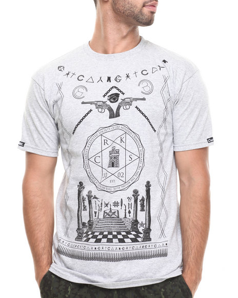Crooks & Castles - Men Grey Coveted Society T-Shirt - $27.99