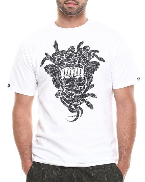 Crooks & Castles - Men White Digi Camo Medusa T-Shirt