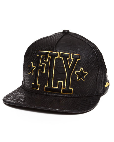 Flysociety Men Python Snapback Black