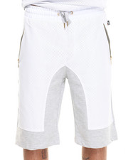 Akademiks - Viper Perforated Faux Leather Trim Shorts