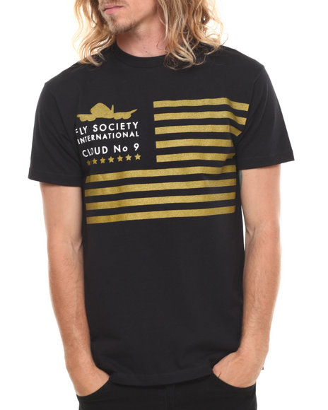 Flysociety - Men Black Gold Standard T-Shirt