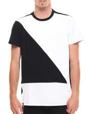 Akademiks - Turbo Faux Leather Trim Tee