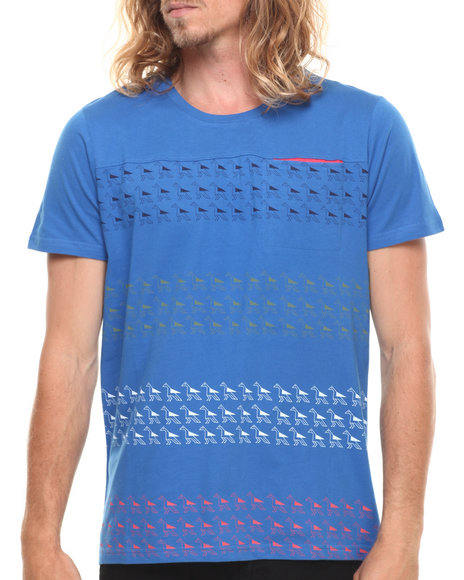 WESC Blue Aztec Stripe S/S Tee