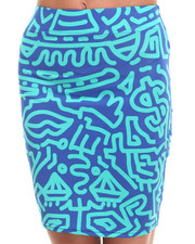COOGI - Allover Print Pencil Skirt