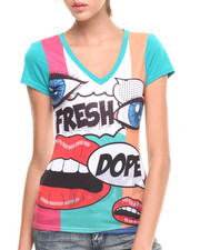 COOGI - Cartoon Pop Art V-Neck Tee