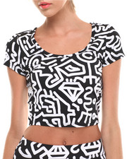 COOGI - Allover Print Cropped Top