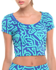 Women - Allover Print Cropped Top