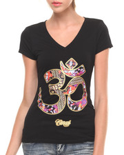 Women - V-Neck Printed Tee