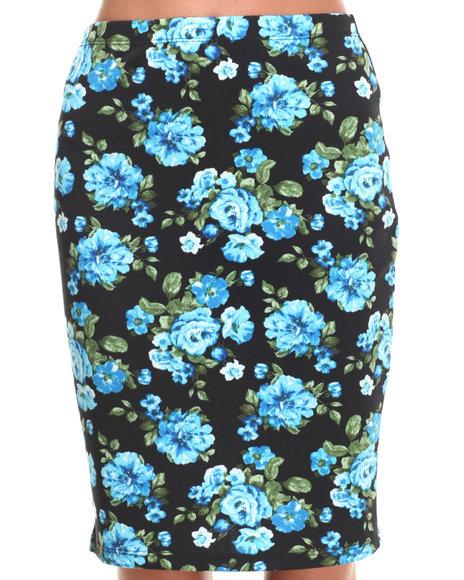 Ali & Kris - Women Blue Floral Print Skirt