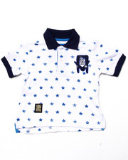 Tops - ALLOVER STAR POLO (2T-4T)