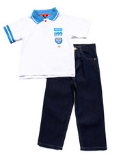 Akademiks - 2 PC POLO AND JEAN SET (4-7)