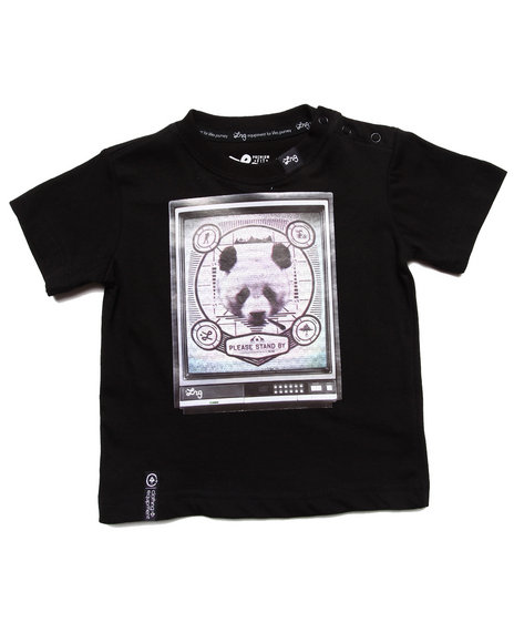 LRG Boys Black Channel 47 Panda Tee (Infant)