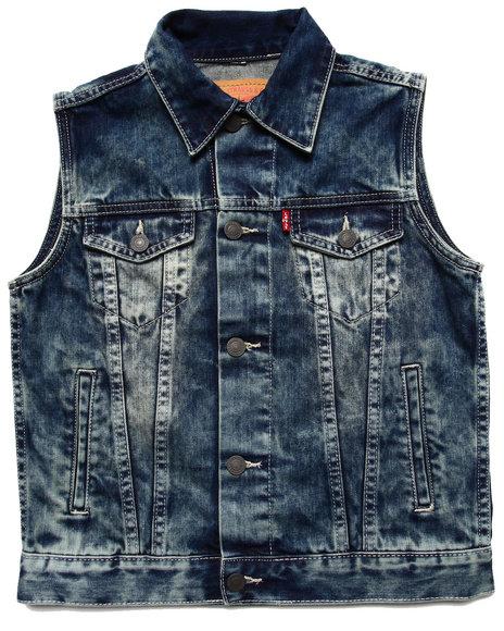 Levi's Boys Medium Wash Trucker Vest (8-20)