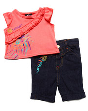 Girls - RUFFLED TANK & PANT SET (NEWBORN)