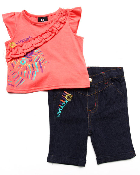 Akademiks - Girls Orange Ruffled Tank & Pant Set (Infant) - $24.99