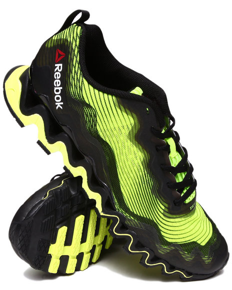 Reebok - Men Neon Green,Black Zigultra Crush Sneakers