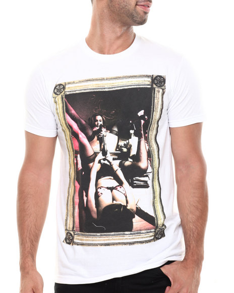 T.I.T.S. - Men White The Pink Cocaine 1 Tee