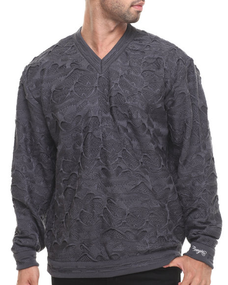 COOGI Grey Classic Coogi L/S V-Neck Sweater