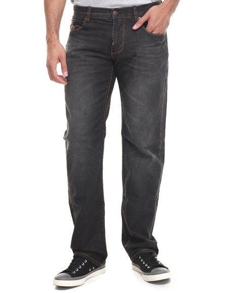 LRG - Men Black Core Collection True-Straight Denim Jeans