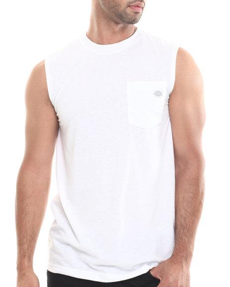 Dickies White Sleeveless Drirelease Performance T-Shirt