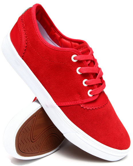 Diamond Supply Co - Men Red Premiere Red Suede Sneakers