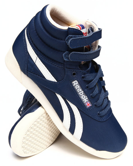 Reebok Blue Freestyle Hi Vintage Inspired Sneakers