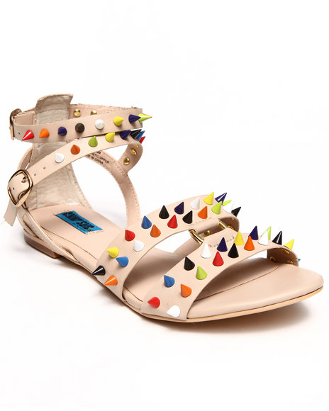 Penny Sue - Women Beige Burst Color - Studded Sandals