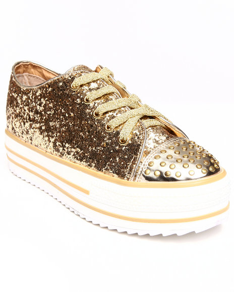 Penny Sue Gold Sneakers