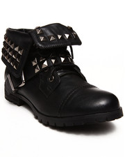 Penny Sue - Brooklyn Studded Roll - Top Bootie
