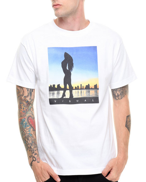 Visual By Van Styles - Men White Visual By Van Styles Dusk Tee