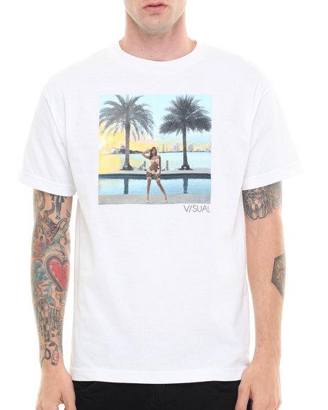 Visual by Van Styles White Visual By Van Styles Paradise City Tee